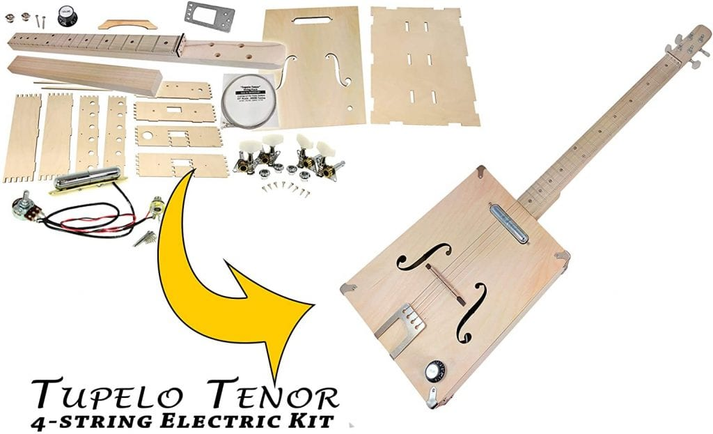 Tupelo Tenor 4-string Electric Box Guitar kit